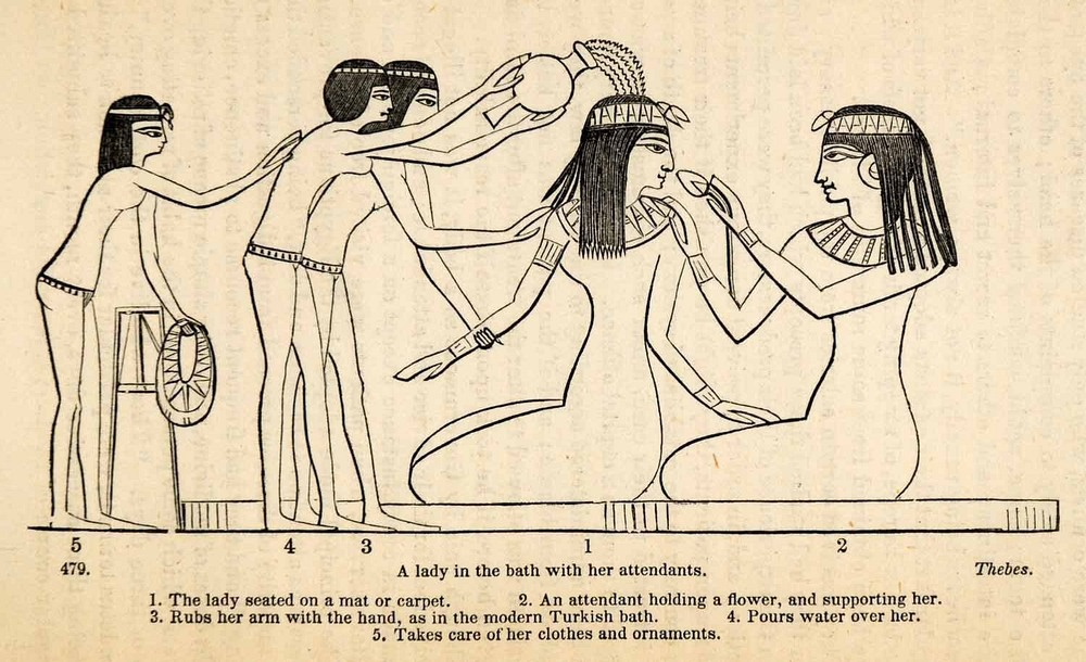egyptian-princess-bathing
