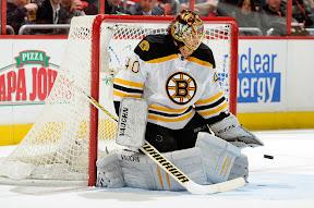 Bruins Tuukka Rask makes a save