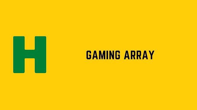 HackerRank Gaming Array problem solution