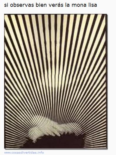 Ilusión óptica Mona Lisa, comparte en tu muro