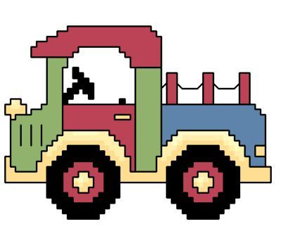Truckcross stitch pattern