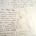 Maison Jean Cocteau : manuscrit de Jean Cocteau