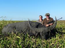 Mr Ganzenmueller with a nice bull taken with a Blaser 375H&H
