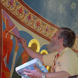 Fr Theodore painting in the altar