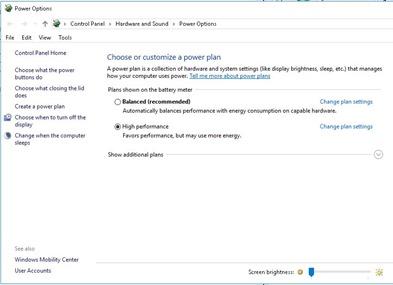 power option