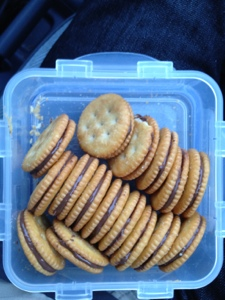 Ritz Crackers and Nutella