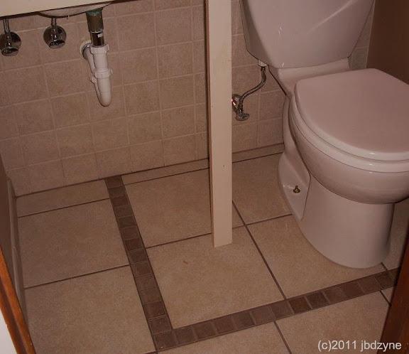 image of powder room tile floor