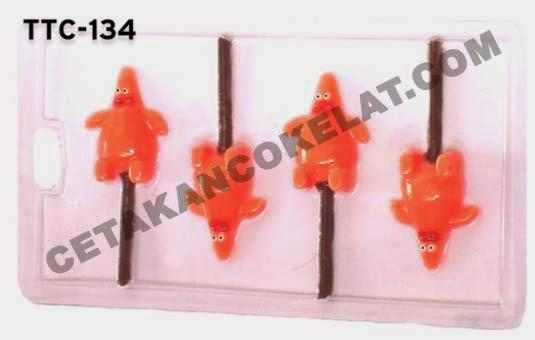 TTC134 Cetakan coklat Patrick Spongebob