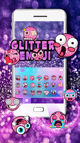 Glitter Emoji Stickers for Chatting (Add Stickers) Android App Screenshot