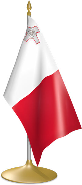 Maltese table flags - desk flags