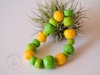 Apple green - salted and varnished beads