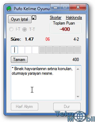 Pufo Kelime Oyunu v1.0 Türkçe