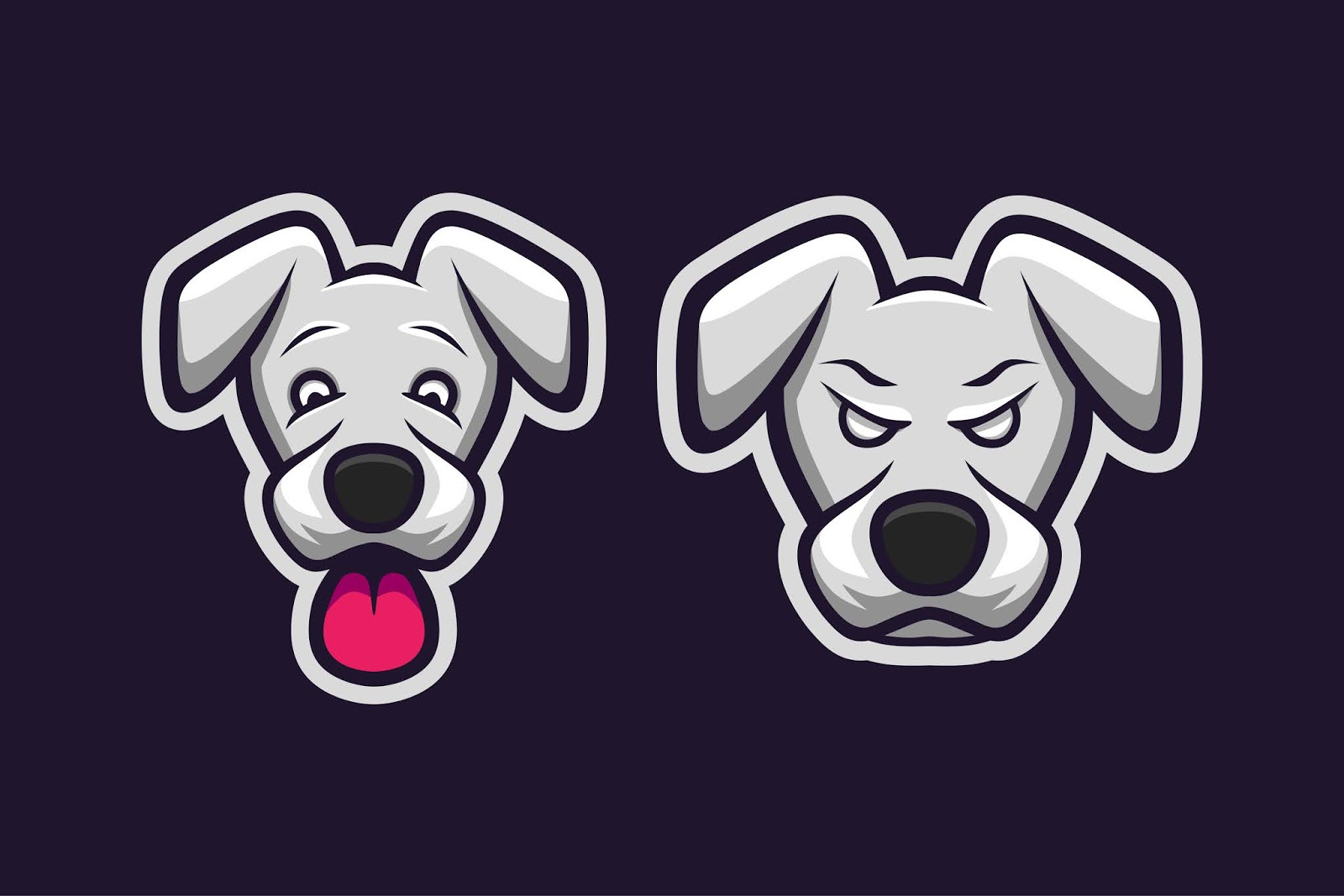Dog Mascot Style Expression Free Download Vector CDR, AI, EPS and PNG Formats