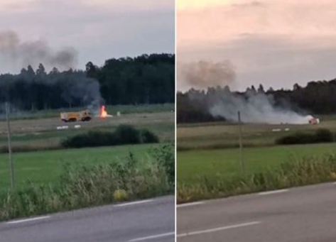 Multiple people dead as plane crashes close to airport shortly after takeoff in Sweden