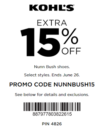 Extra 15% Off All Nunn Bush Footwear - Kohls coupon