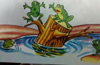 Esopo fabula Las ranas pidiendo rey