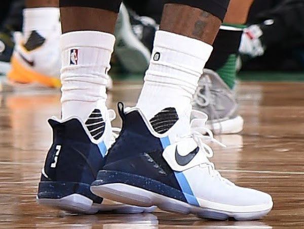 LBJ Laces Up Rare Navy Blue Look as Cavs Drop Celtics for 1 Seed