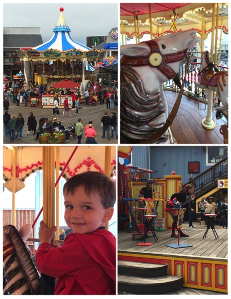 Pier 39 merry go round and midway