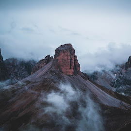 dolomites by Zoran Stegnjaić - Landscapes Mountains & Hills ( landscapes, foggy, dolomites, mountains, alps, clouds, morning, hill, mountain, view, italia, moody, hills, landscape, italy, fog,  )