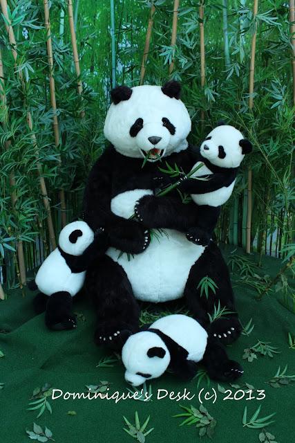 Mama Panda and her cubs