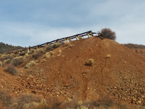 Photo: Orient Mine. No bats yet--that is June, when 250,000 bats arrive to summer in the old access shaft.
