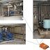 Pomieszczenie z pompami, detekcja wycieków wody za pomocączujnika TT-FLAT-PROBE