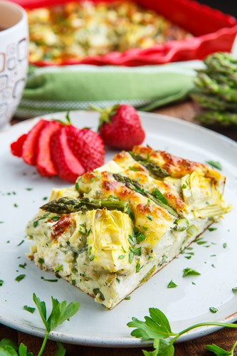 Asparagus and Artichoke Breakfast Egg Casserole 800 0053