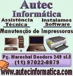 Manutenção de Computadores, Notebook's e impressoras Santa Cecília