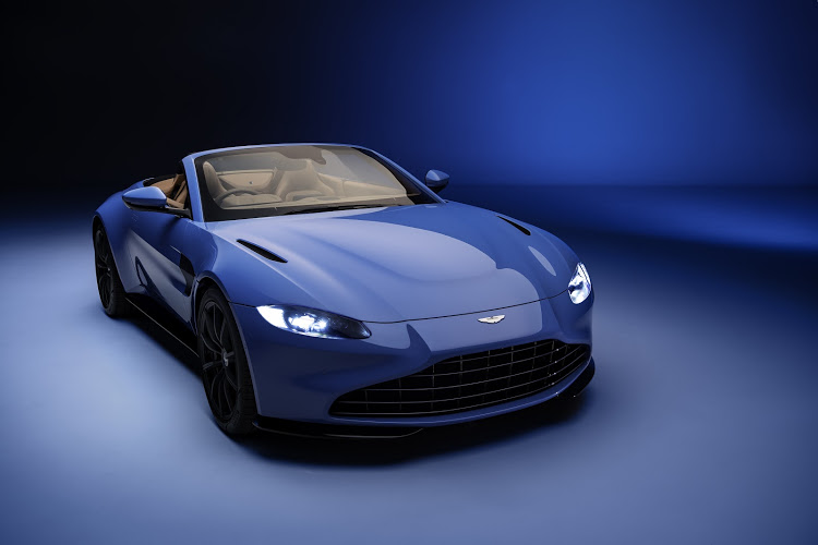 Aston Martin Vantage drops its top in just 6.7 seconds, when you're in a hurry to get some sun.