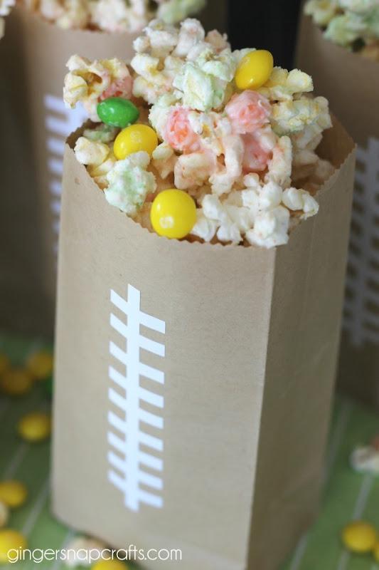 football inspired popcorn