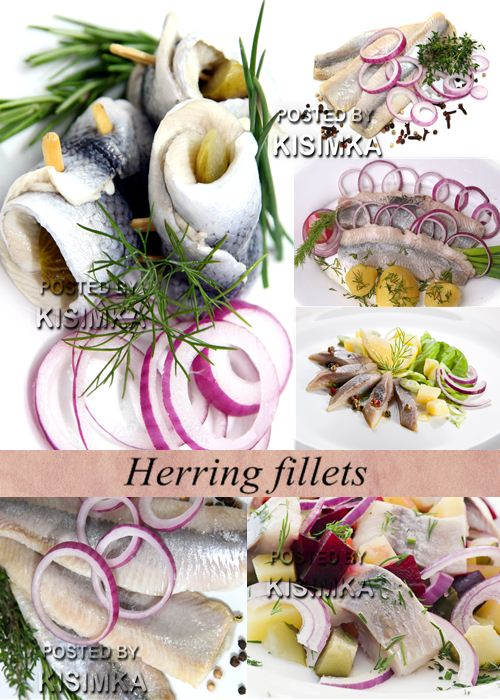 Stock Photo: Herring fillets