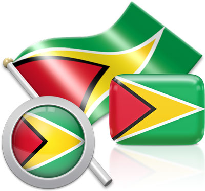 Guyanese flag icons pictures collection