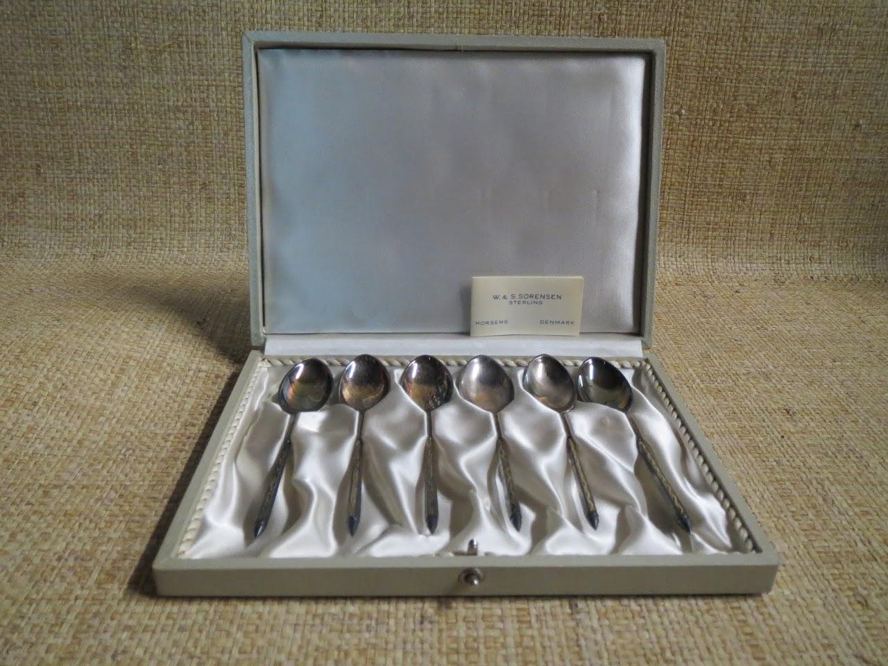 W. & S. Sorensen Sterling Silver Spoon Set
