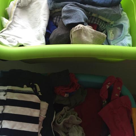 Gefaltete Wäsche