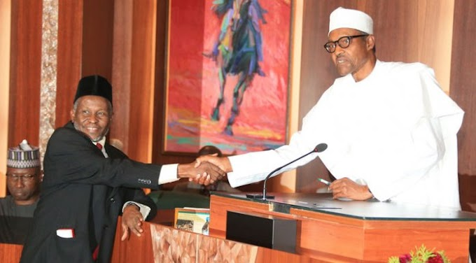 #BuhariOut#: The Person Buhari Unconstitutionally Used To Replace Onnoghen Is A Sharia Judge – Nigerians Reacts