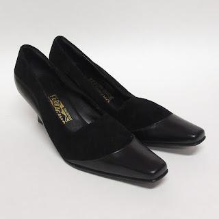Salvatore Ferragamo Suede and Leather Heels