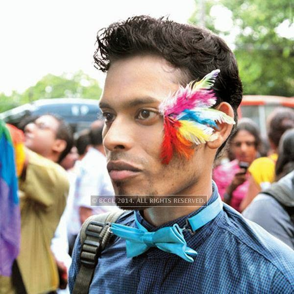 Uttaran during the 13th edition of Kolkata Rainbow Pride Walk 2014, held in Kolkata.