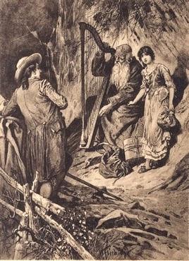 Harfer und Mignon - W. Friedrich