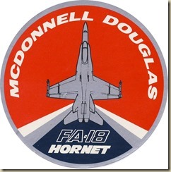 MDD FA-18 sticker