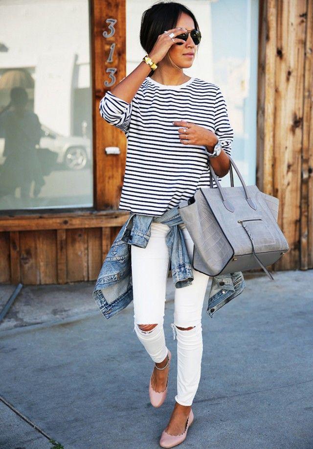 quan jeans ao thun