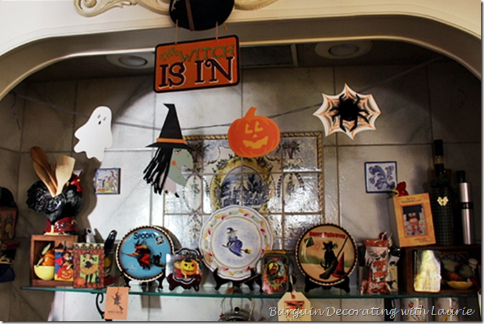 Halloween Decor Bottom Shelf over Range
