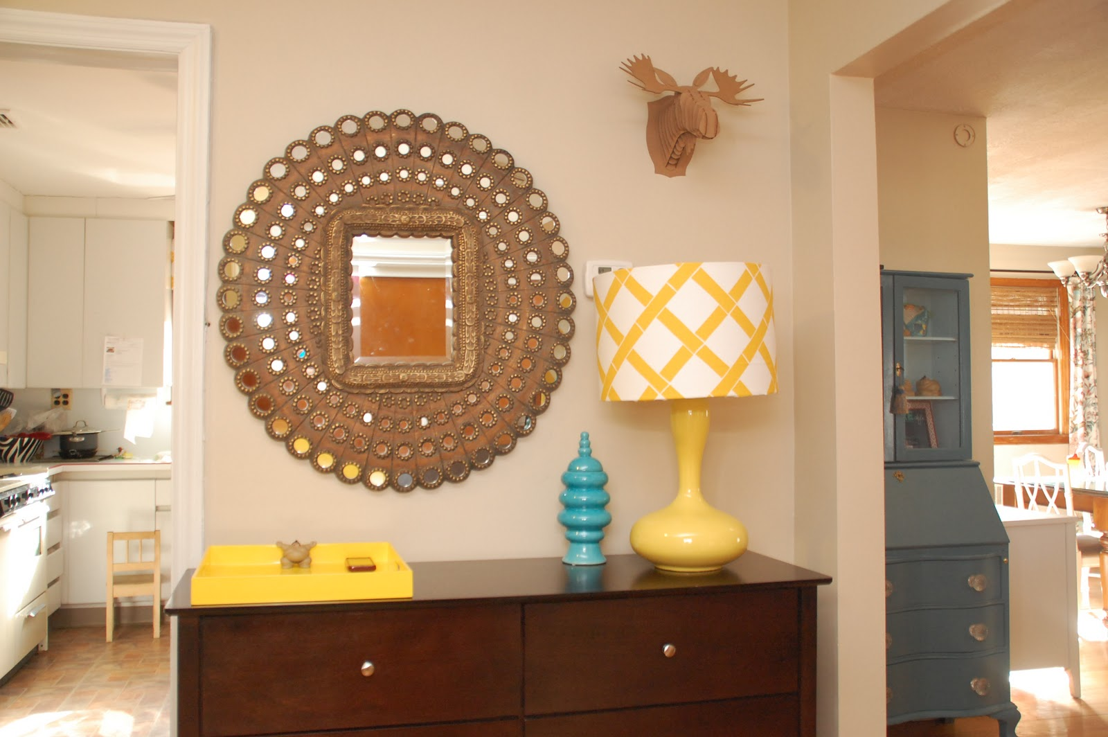 Lisa Moves Honeycomb Pea Mirror Or My Foyer