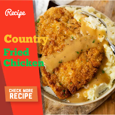 Country fried chicken and Easy Focaccia Recipe
