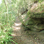 Track beside rocky outcrop near Forrester Park (80422)