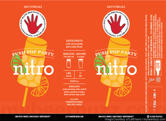 Left Hand Adding Push Pop Party Nitro Cans