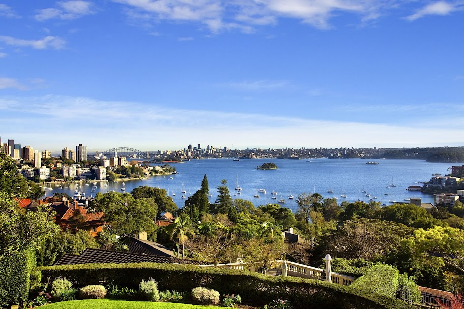 The view from 'Leura' located in Bellevue Hill.