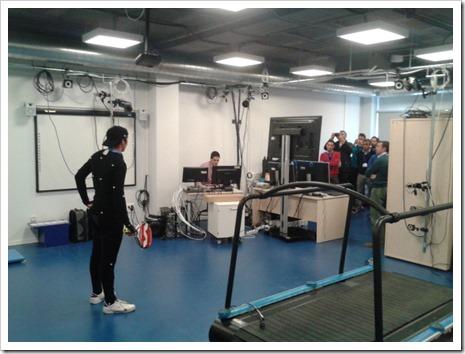 Momento taller en laboratorio de biomecanica del      iMUDS
