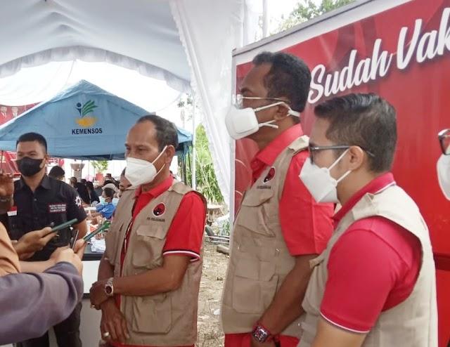 1.200 Orang Ikuti Vaksinasi di PDIP Kalteng