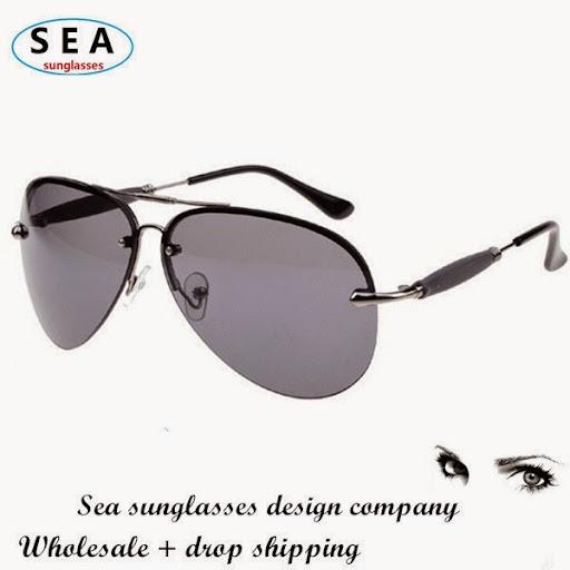 Luxury Metal half frame glasses aviator Men sunglasses