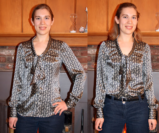 StyleArc Tiffany blouse (silk charmeuse)